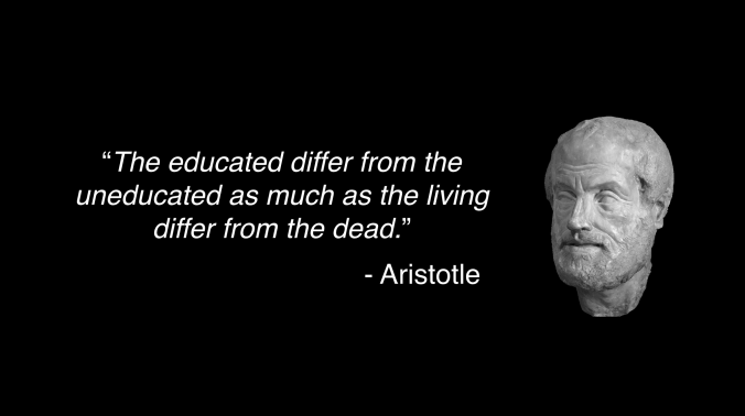 Aristotle quote about educated man.