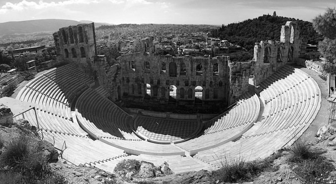 The Odeon of Herodes Atticus theatre, Greece.